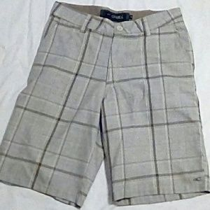 Men's O'Neill Tan Plaid Sterling Shorts Size 30